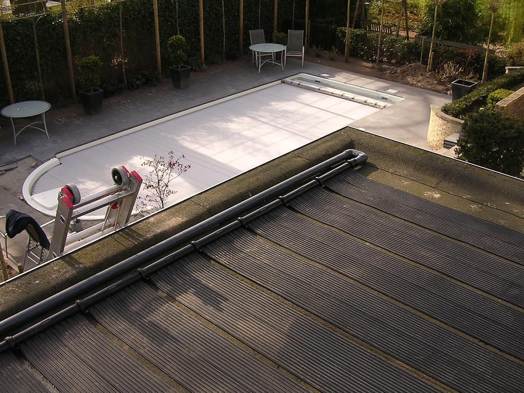 Solarmatten op plat dak